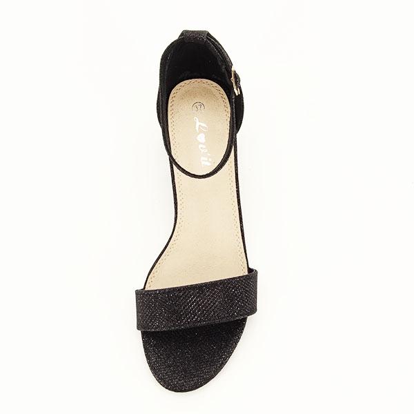 Sandale negre cu sclipici Miria [2]