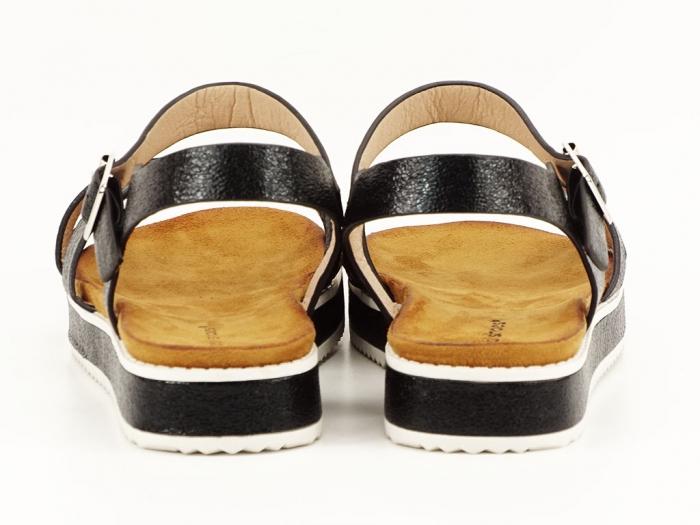 Sandale negre cu talpa joasa Cara 2