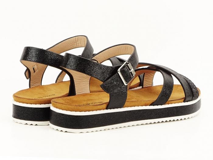 Sandale negre cu talpa joasa Cara 6