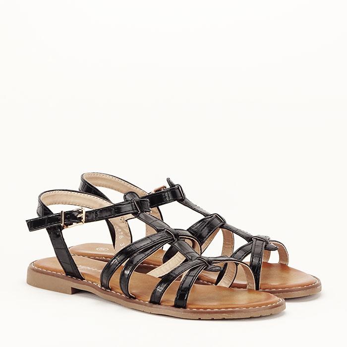 Sandale negre cu talpa joasa Jeni [6]