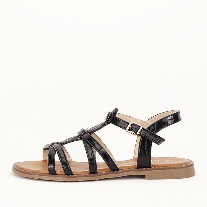 Sandale negre cu talpa joasa Jeni [1]
