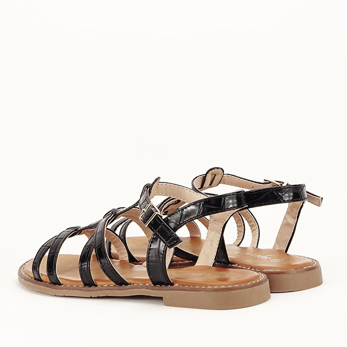 Sandale negre cu talpa joasa Jeni [7]