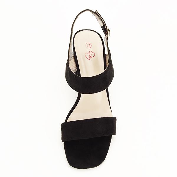 Sandale negre cu toc comod Erika [6]