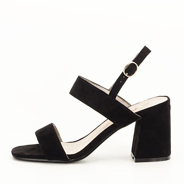 Sandale negre cu toc comod Erika [0]