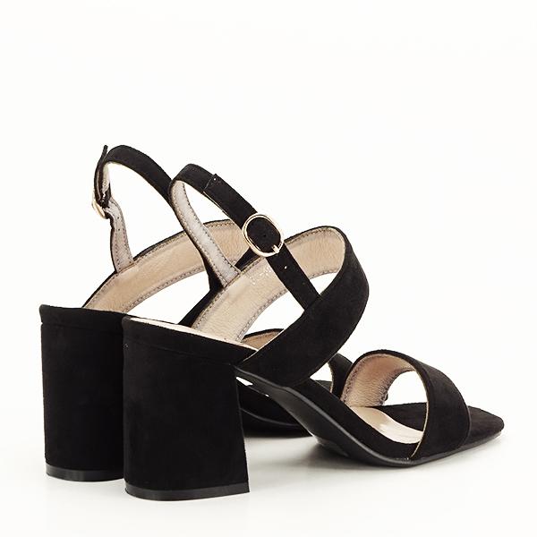Sandale negre cu toc comod Erika [4]