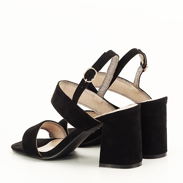 Sandale negre cu toc comod Erika [3]