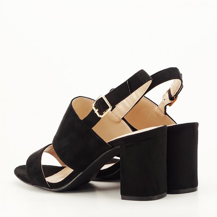 Sandale negre cu toc comod Paloma [6]