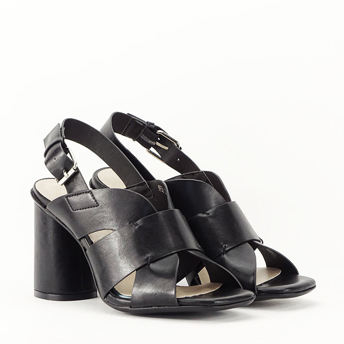 Sandale negre cu toc gros Amalia 4