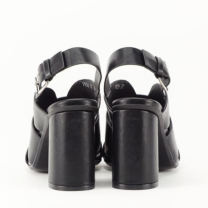 Sandale negre cu toc gros Amalia 6