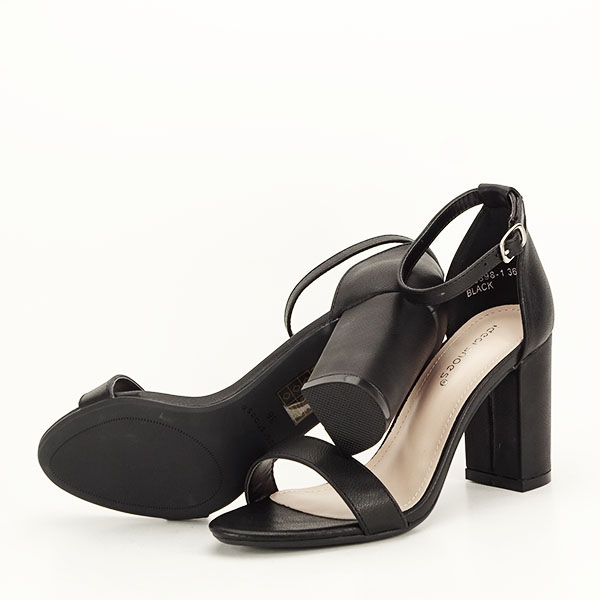 Sandale negre cu toc gros Ingrid 2 [6]