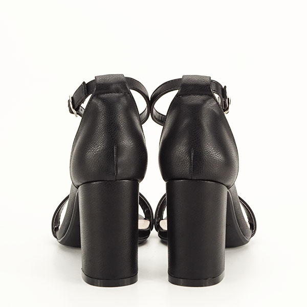 Sandale negre cu toc gros Ingrid 2 [5]