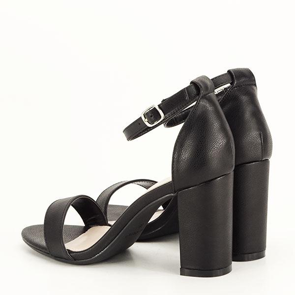 Sandale negre cu toc gros Ingrid 2 [3]