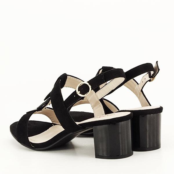 Sandale negre cu toc gros Sabrina [4]