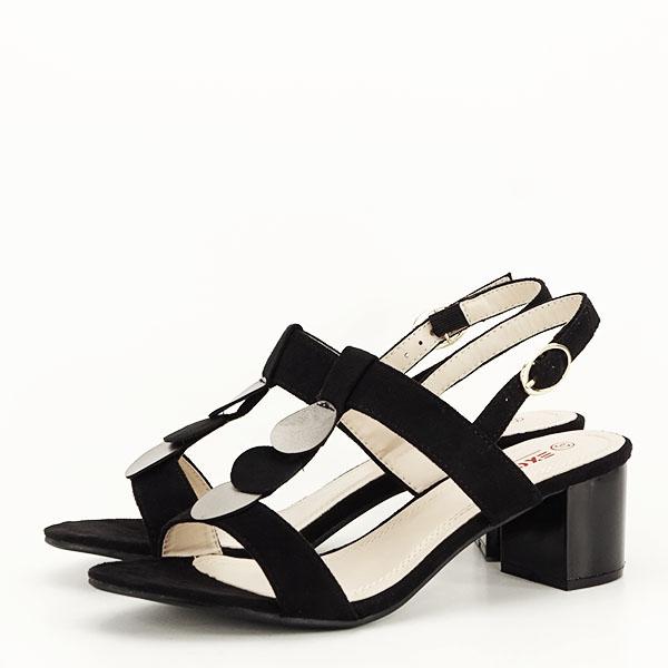 Sandale negre cu toc gros Sabrina [1]