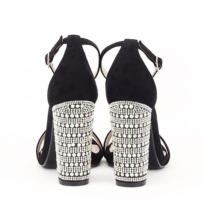 Sandale negre cu pietricele pe toc Cleopatra [6]