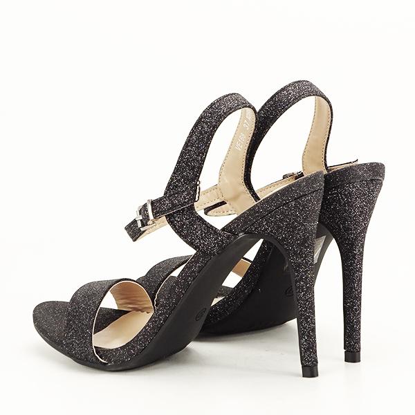 Sandale negre cu toc inalt Mia [3]