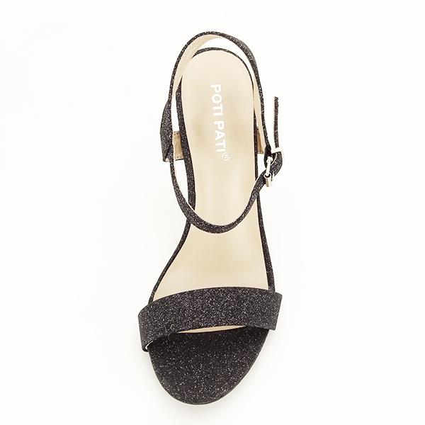 Sandale negre cu toc inalt Mia [6]