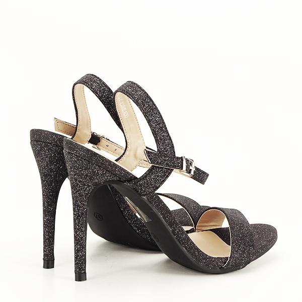 Sandale negre cu toc inalt Mia [4]