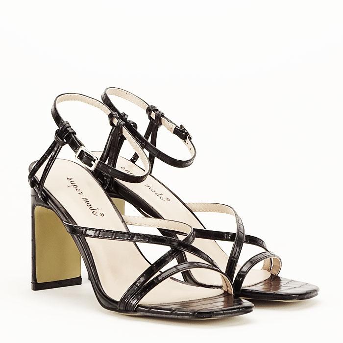 Sandale negre cu toc Jessie [7]