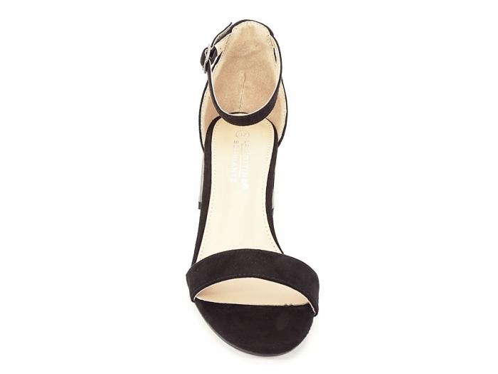 Sandale negre elegante cu toc mic Maya 4