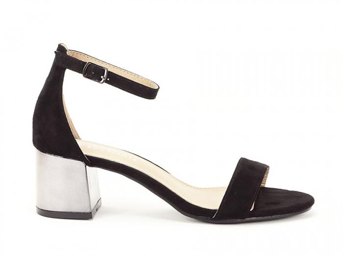 Sandale negre elegante cu toc mic Maya 0