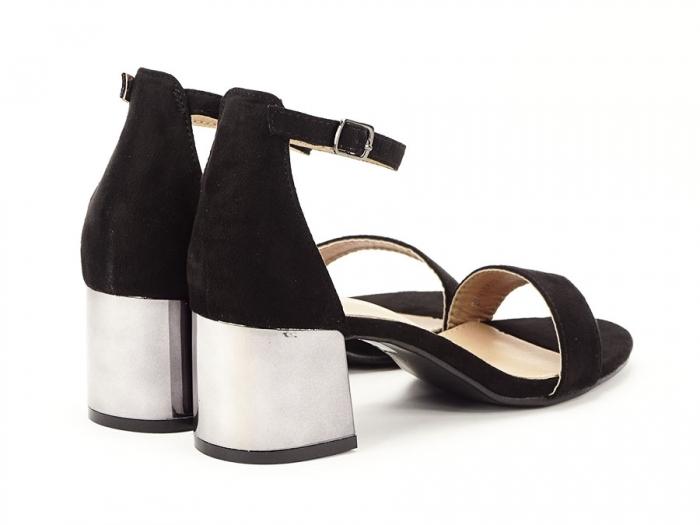 Sandale negre elegante cu toc mic Maya 3