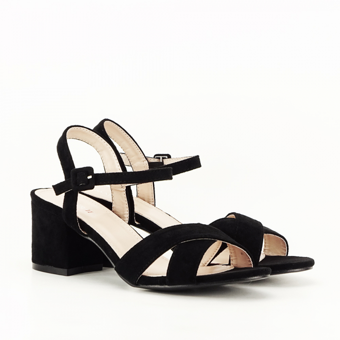 Sandale negre cu toc mic Natalia [4]