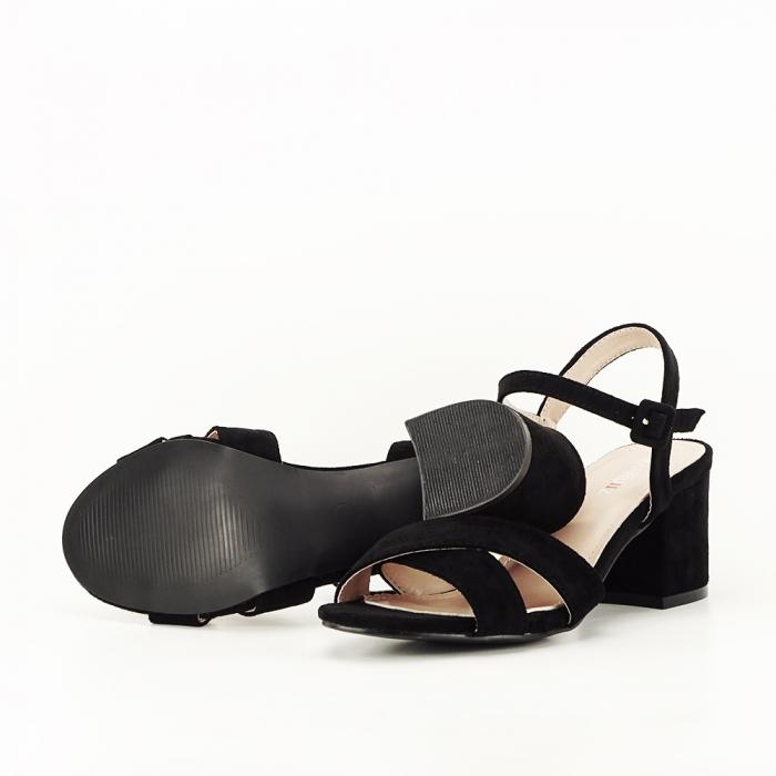 Sandale negre cu toc mic Natalia [7]