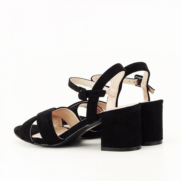 Sandale negre cu toc mic Natalia [5]