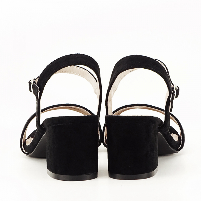 Sandale negre cu toc mic Vanesa [4]