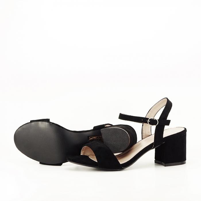 Sandale negre cu toc mic Vanesa [5]