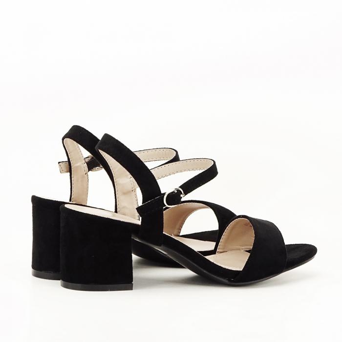Sandale negre cu toc mic Vanesa [2]