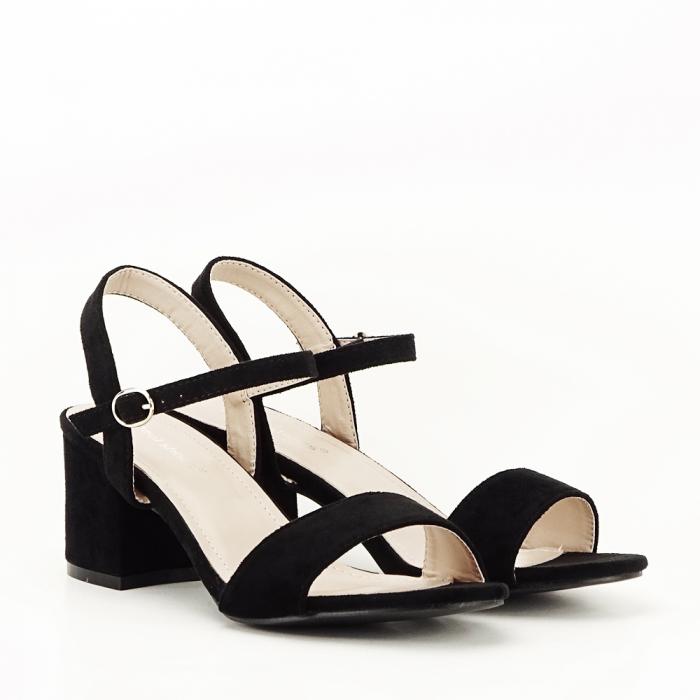 Sandale negre cu toc mic Vanesa [6]