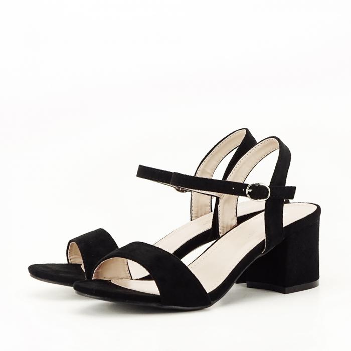 Sandale negre cu toc mic Vanesa [1]