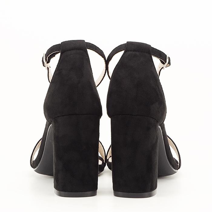 Sandale negre cu toc inalt Flavia [4]