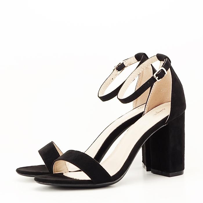 Sandale negre cu toc inalt Flavia [0]