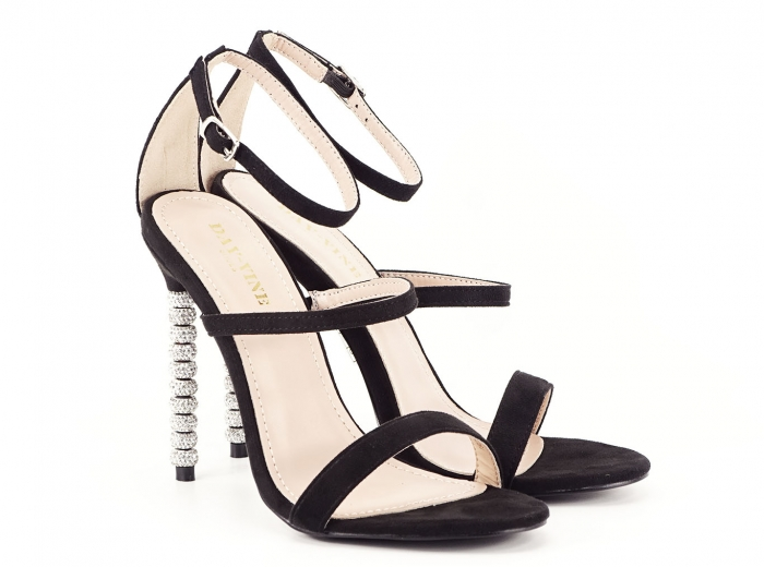 Sandale negre elegante cu toc inalt Delia [1]
