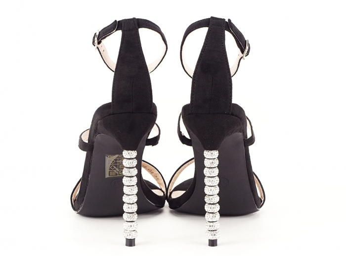 Sandale negre elegante cu toc inalt Delia [3]