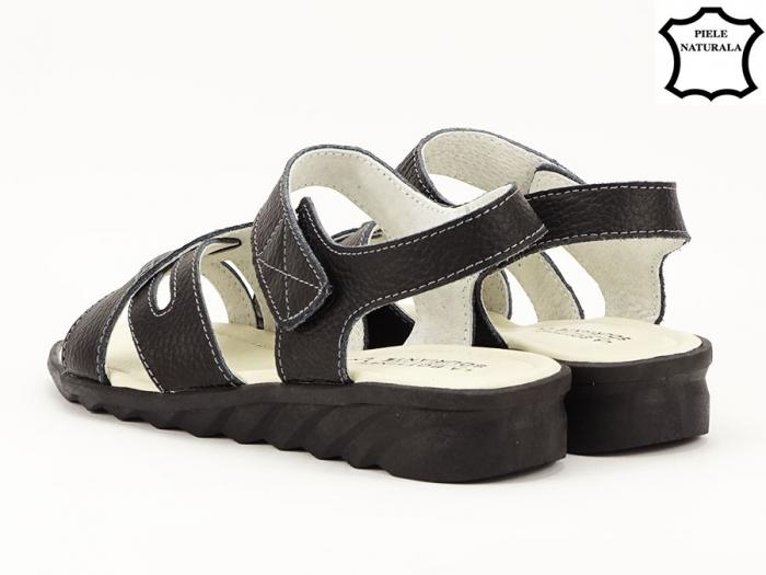 Sandale negre din piele naturala Alexandra 3
