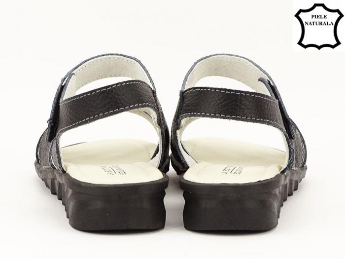 Sandale negre din piele naturala Alexandra 4