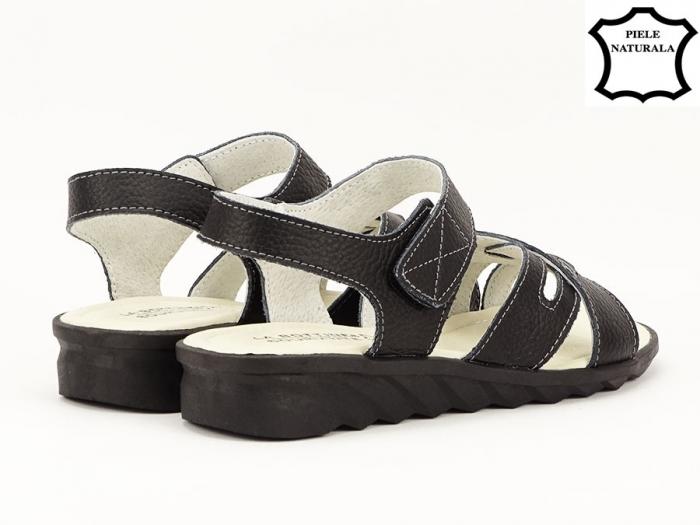 Sandale negre din piele naturala Alexandra 5