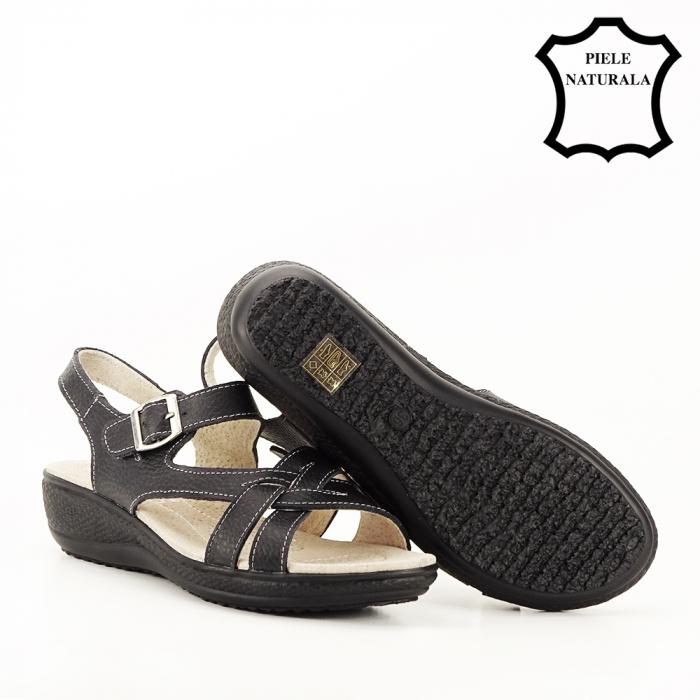 Sandale negre din piele naturala Callia [5]