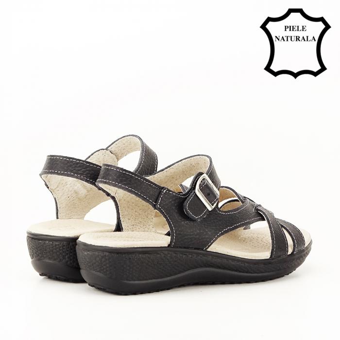 Sandale negre din piele naturala Callia [2]