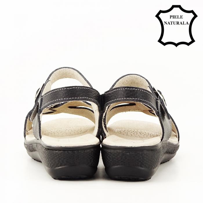 Sandale negre din piele naturala Callia [4]