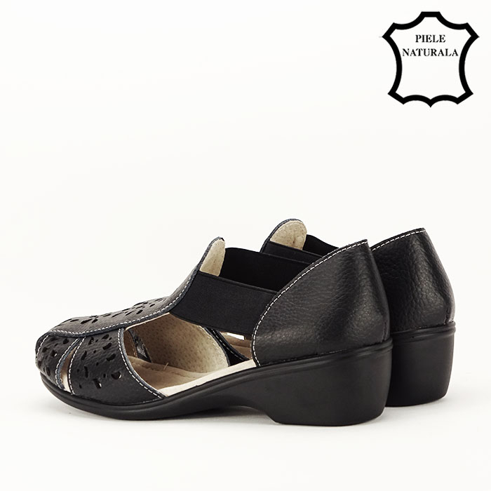 Sandale negre din piele naturala Ozana [7]