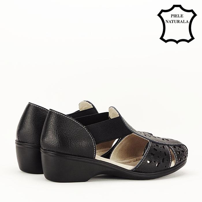 Sandale negre din piele naturala Ozana [5]