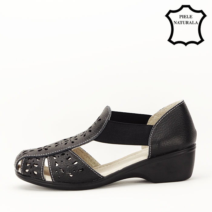Sandale negre din piele naturala Ozana [1]