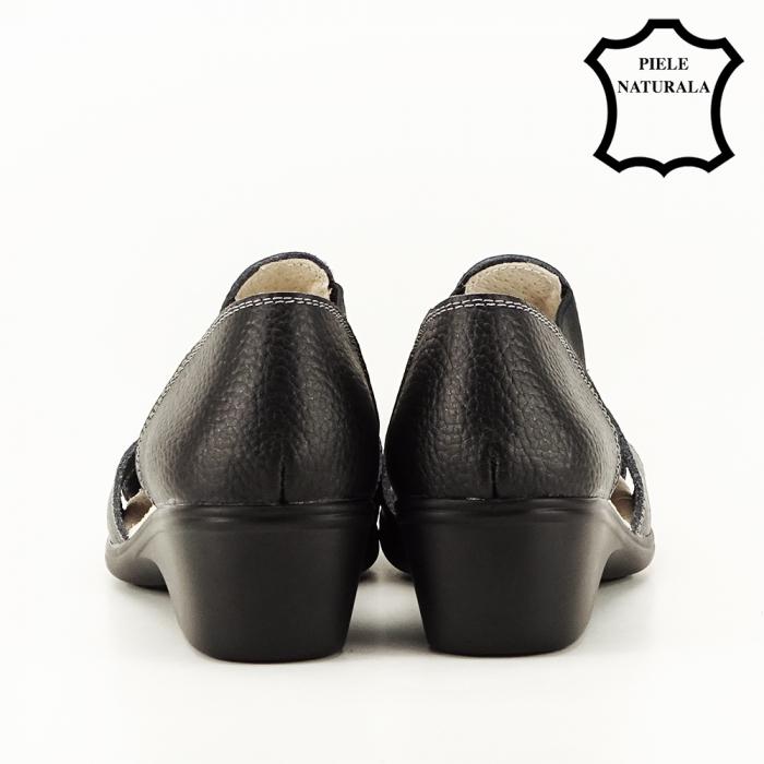 Sandale negre din piele naturala Calypso 4