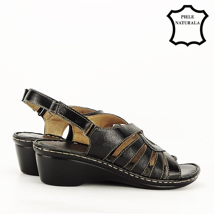 Sandale negre din piele naturala Eliza [4]