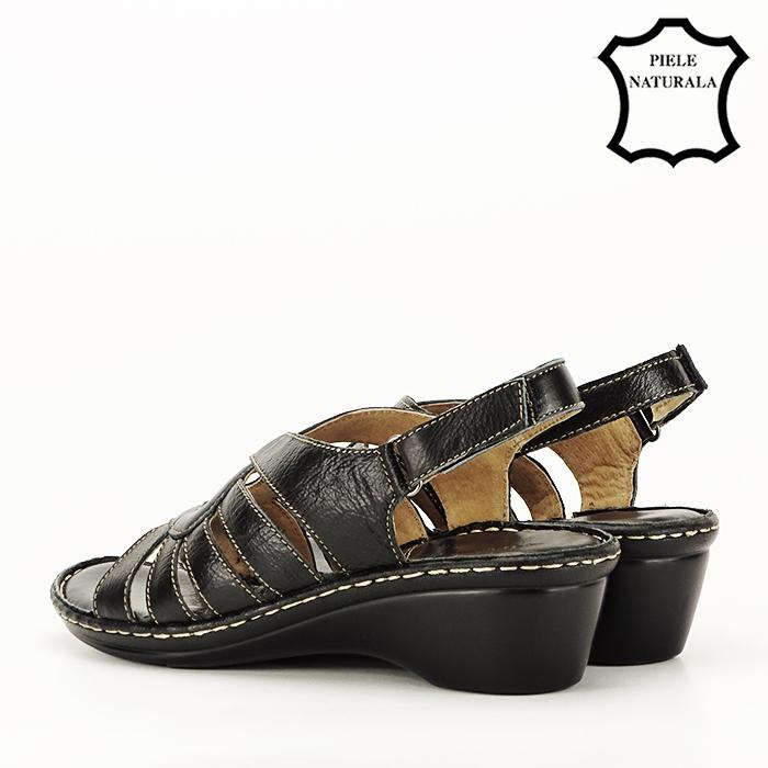 Sandale negre din piele naturala Eliza [7]